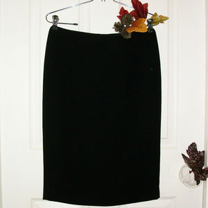 TAHARI Black Knee Length Pencil Skirt Fully Lined